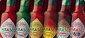 Tabasco hot sauces (photo credit: Tabasco)